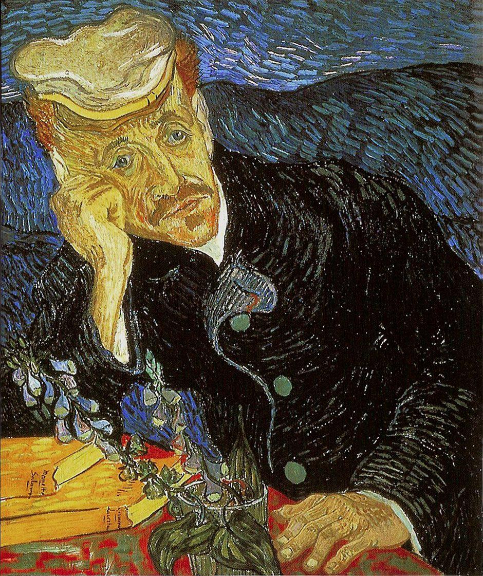 O pintor holandês Vincent van Gogh ocupa o sétimo lugar da lista com 'Retrato de Dr. Gachet'. A obra de 1890 foi vendida por US$ 82,5 milhões, em 1990.