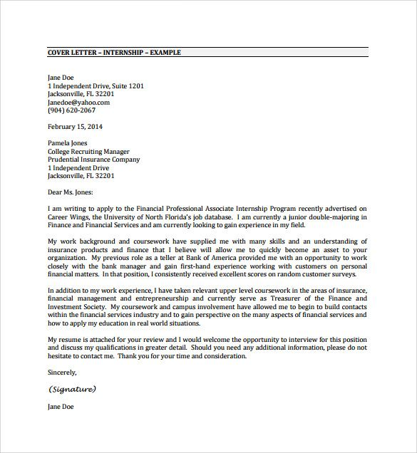 cover letter example internship pdf free download sample resume - a good cover letter for resume