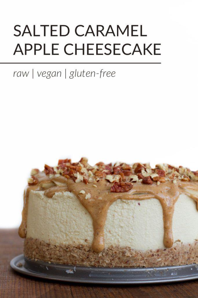 Vegan Salted Caramel Apple Cheesecake