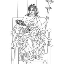 Demeter From Greek Gods And Goddesses Coloring Page Demeter