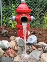 fire hydrant pond decor - Google Search  Firefighter decor, Ponds