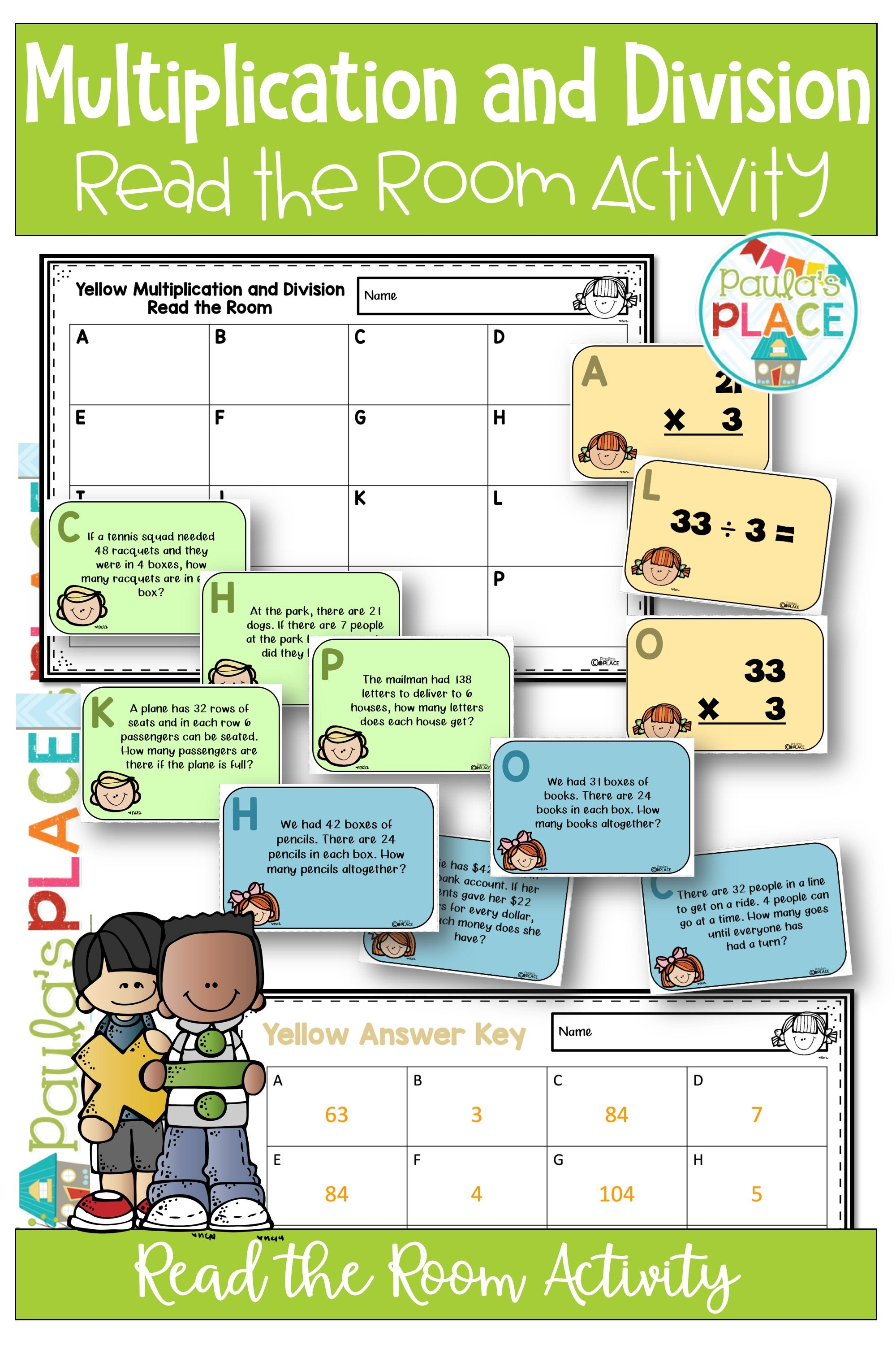 Multiplication And Division Read The Room Activity
