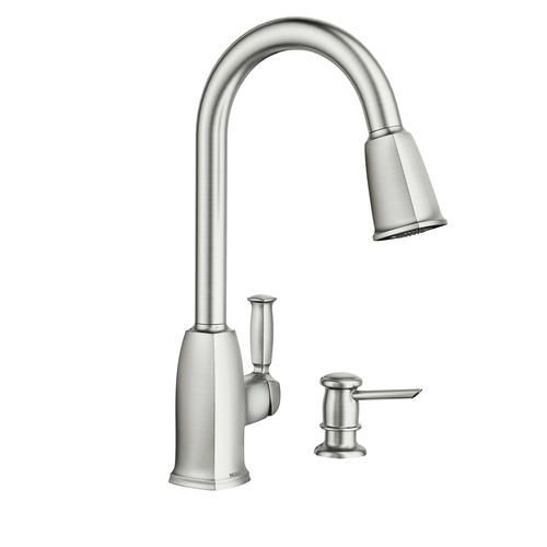 Moen Wellsley One Handle Pull Down Kitchen Faucet At Menards