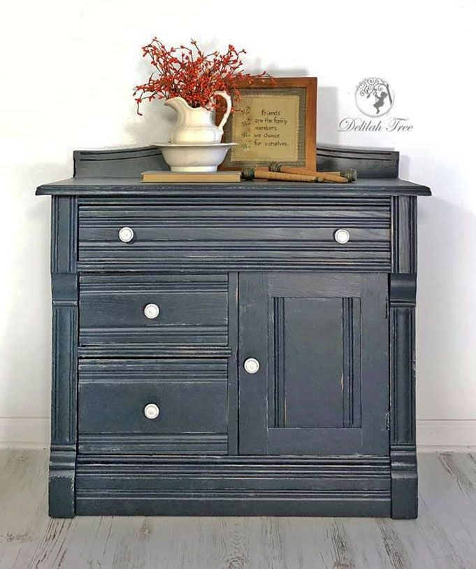 Best Coastal Blue And Seagull Gray Distressed Cabinet 400 x 300