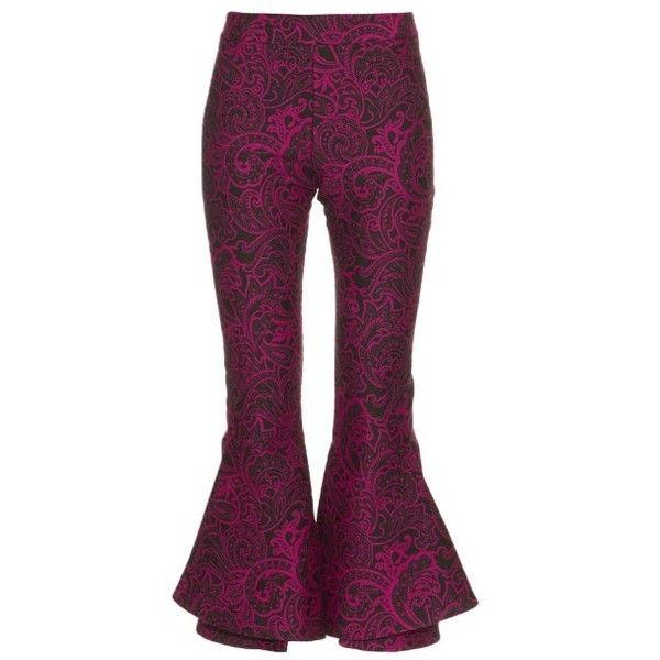 flared trousers - Pink & Purple Mary Katrantzou 1Zytxpmqx