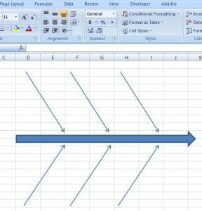CreatingFishboneDiagramTemplateExcel  Free Fishbone Diagram