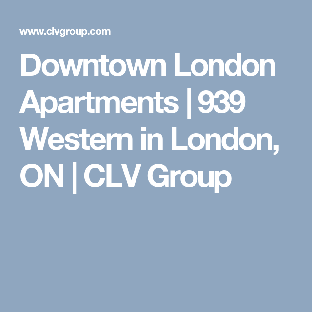 1 Bedroom Apartments In London: Downtown London Apartments