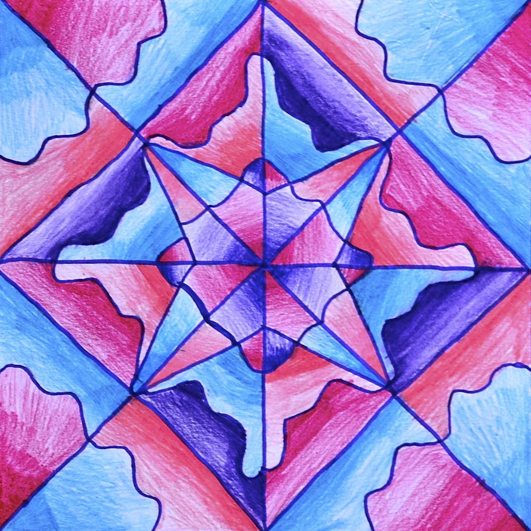 Pattern With Radial Drawings Symmetry Art Radial Design Art Math Art Projects