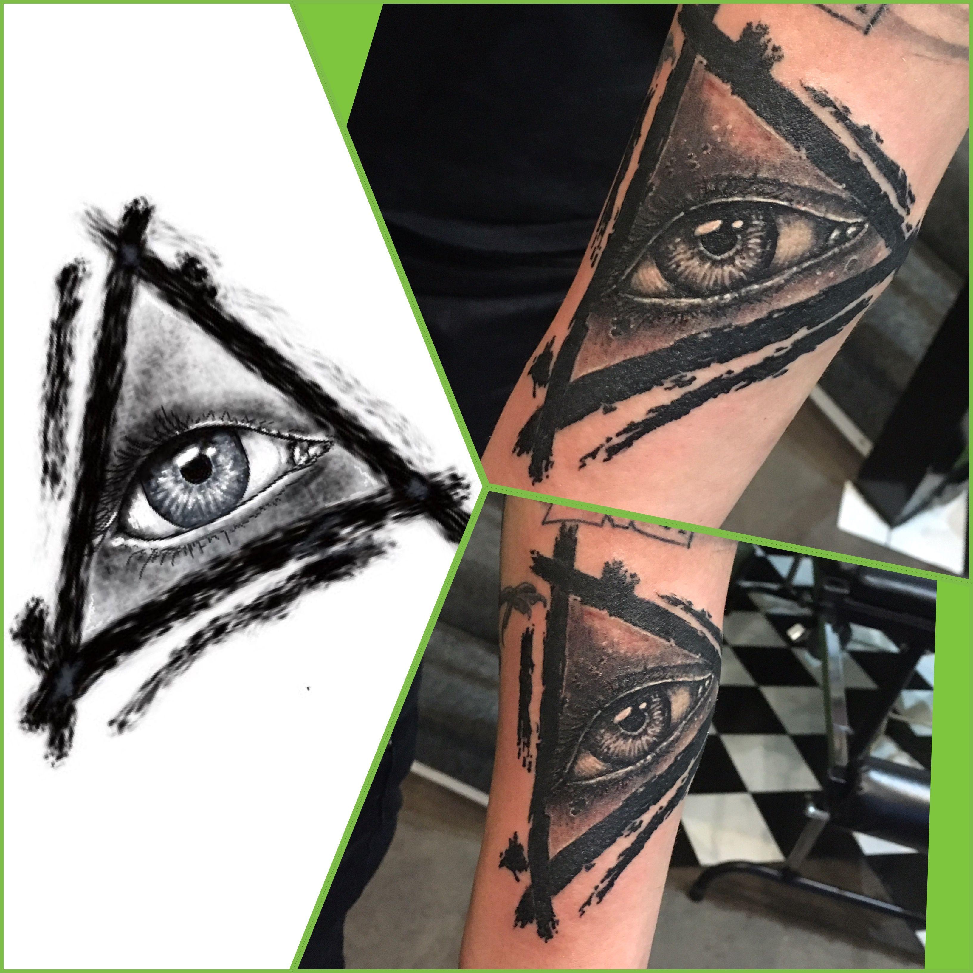 All seeing eye graphic ipad pro tattoo digital art
