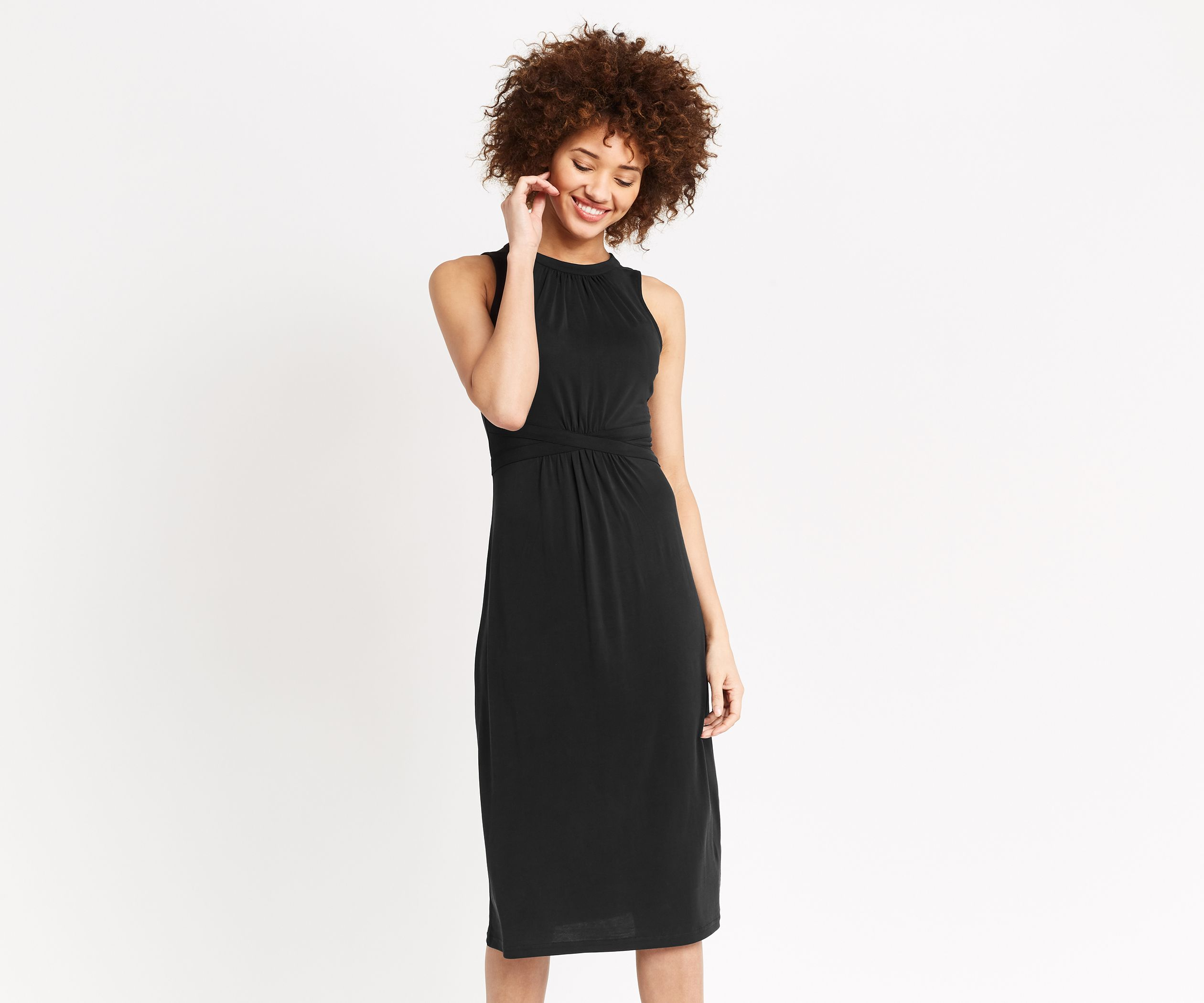9e3218e0cf80 Oasis, GRECIAN MIDI DRESS Black   Sheath Dresses   Dresses, Grecian ...