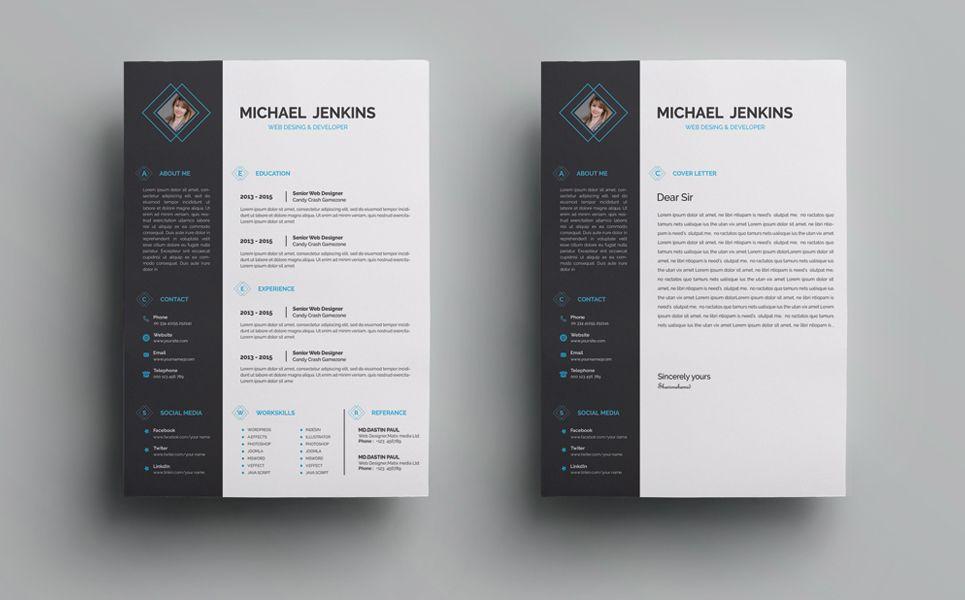 michael jenkins clean resume template  75325