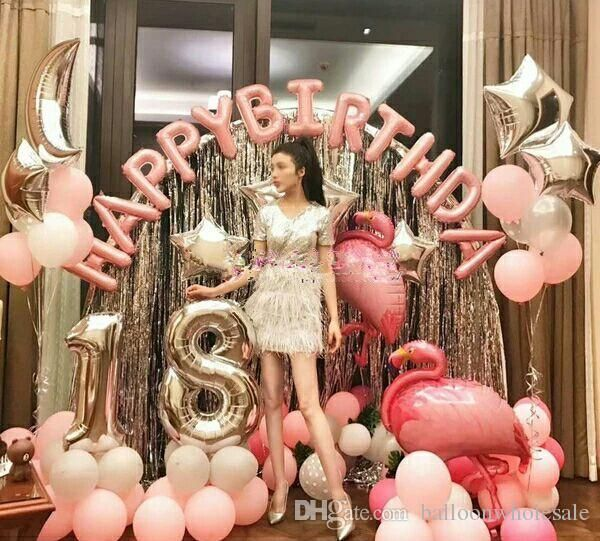 13 teile / los 16 zoll Alphabet Buchstaben Luftballons Happy Birthday Party Dekoration liefert Aluminiumfolie Membran Ballon Großhandel - Decorationn - # 13 ...