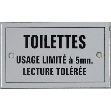 Plaque toilettes usage limit en acier maill leroy merlin girls room - Plaque fonte leroy merlin ...