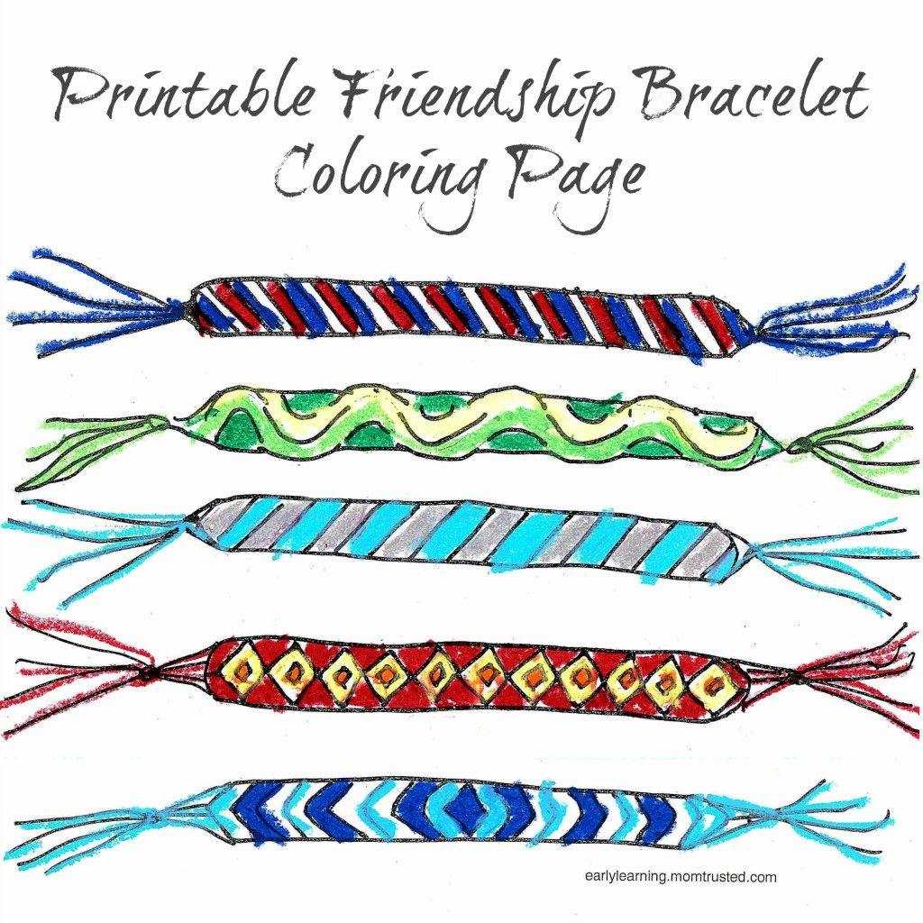 Printable Friendship Bracelet Coloring Page
