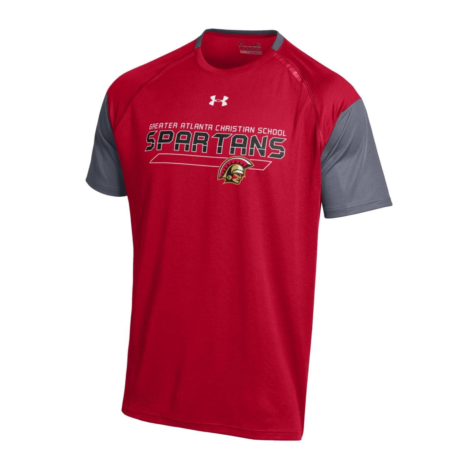 Under Armour Team Color Perpetual Short Sleeve Tshirt In Red And Charcoal Limited Edition Youth Sizes Xs Xl Mens Tops Spirit Wear Short Sleeve Tshirt