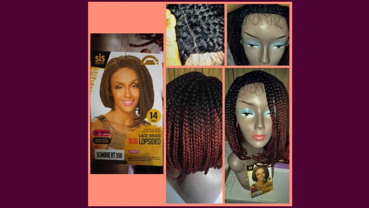Zury sis synthetic afro lace braid bob lopsided youtube