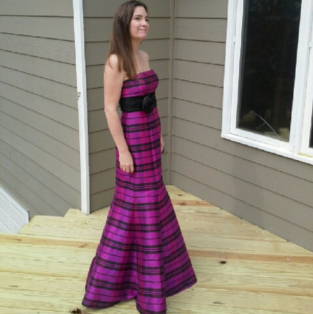 & Co. Plaid Formal Or Prom Dress Hp!