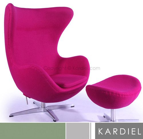 EGG CHAIR & OTTOMAN POM FUSION accent modern furniture contemporary ...