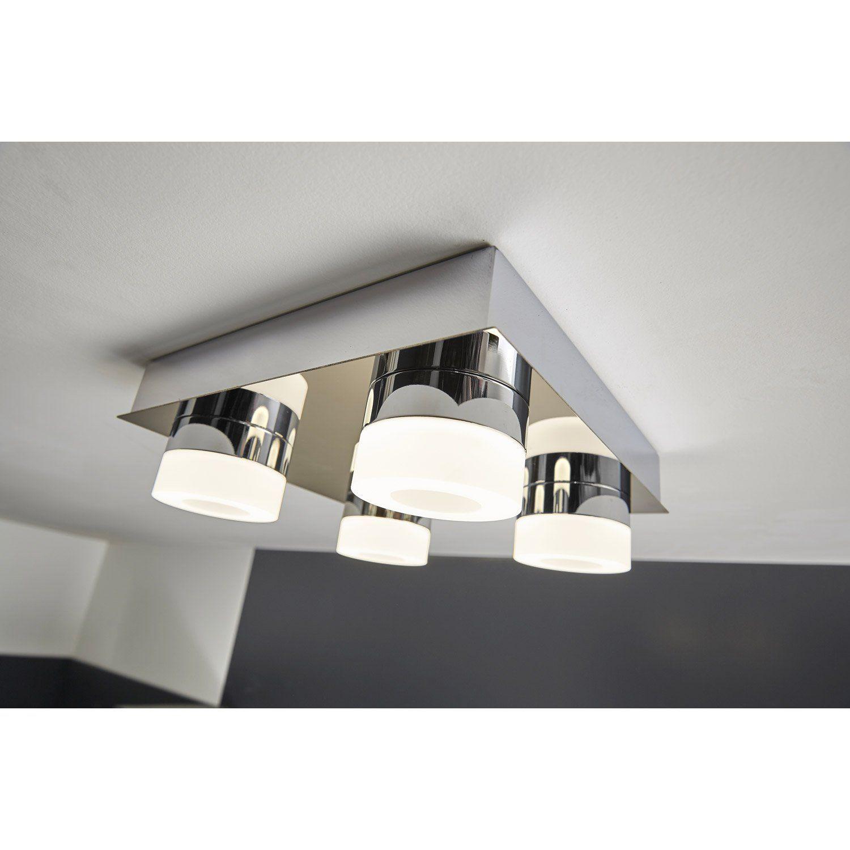 Plafonnier  fixer Icaria INSPIRE led 4 x 4 W led intégrée chrome