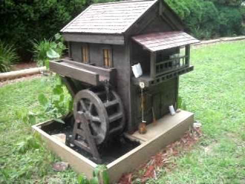 hand made grist mill with working water wheel coop pinterest