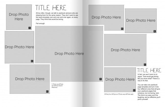 the only yearbook page template you need powder pinterest