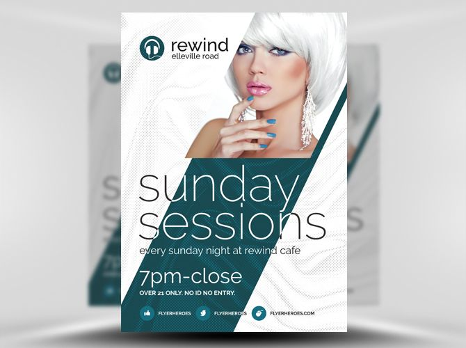 Free Sunday Sessions Psd Flyer Template Free Flyer Template