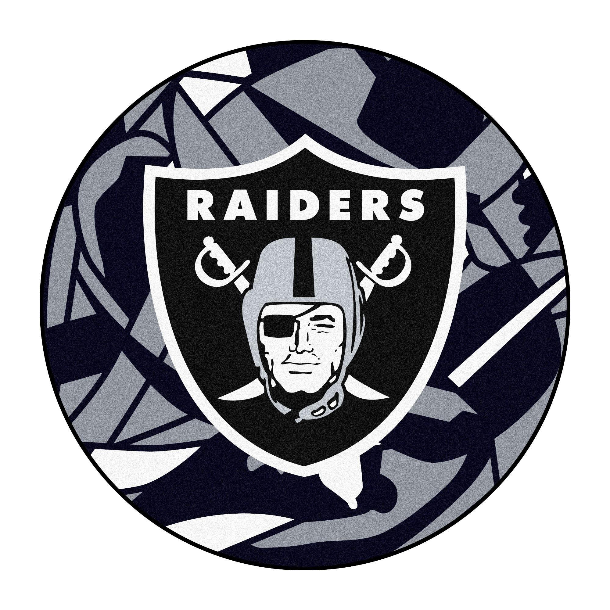 "NFL Oakland Raiders Roundel Mat 27"" diameter (Oakland"