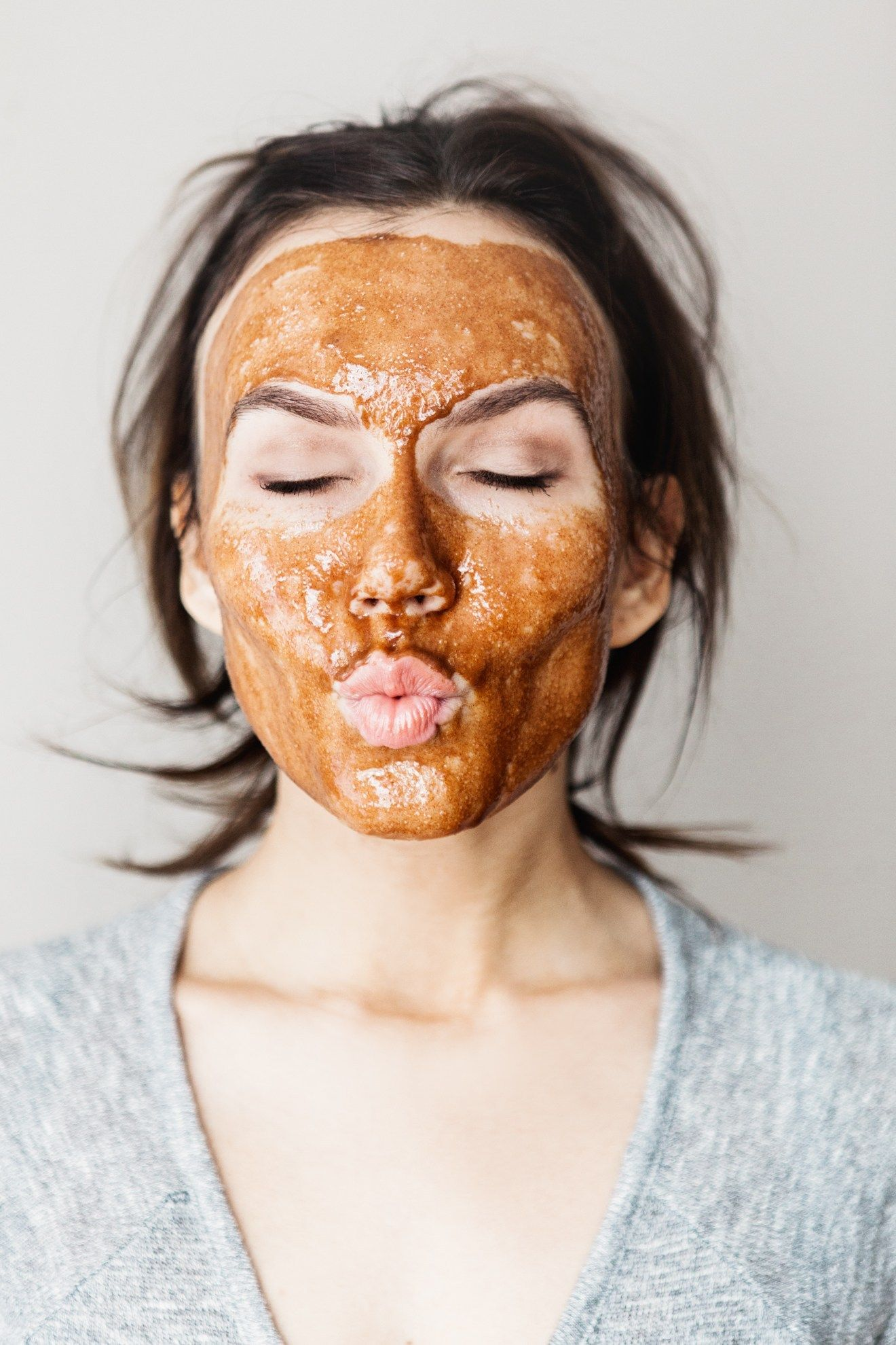 Honey cinnamon mud mask post acne marks honey cinnamon
