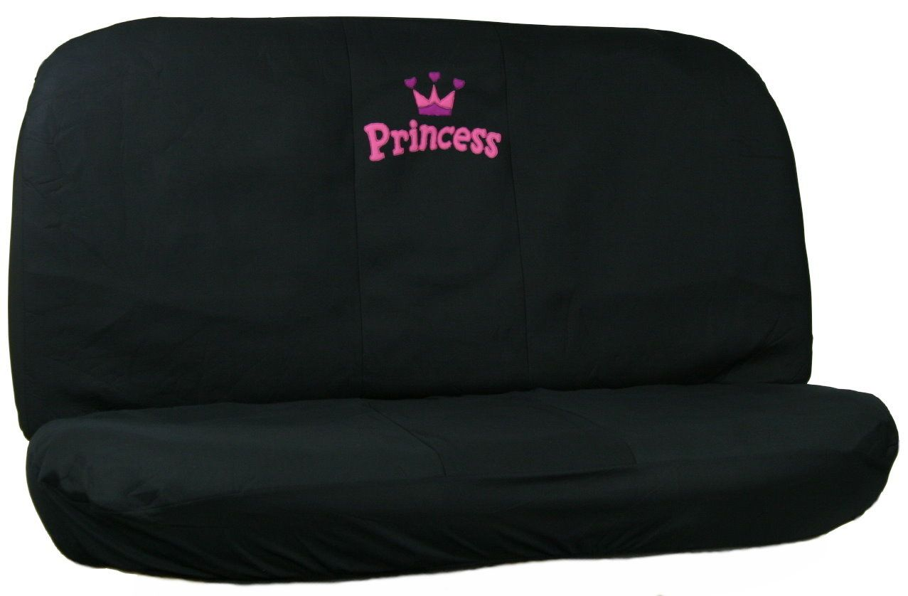 Pink Princess Car Seat Cover Set With Crown Steering Wheel