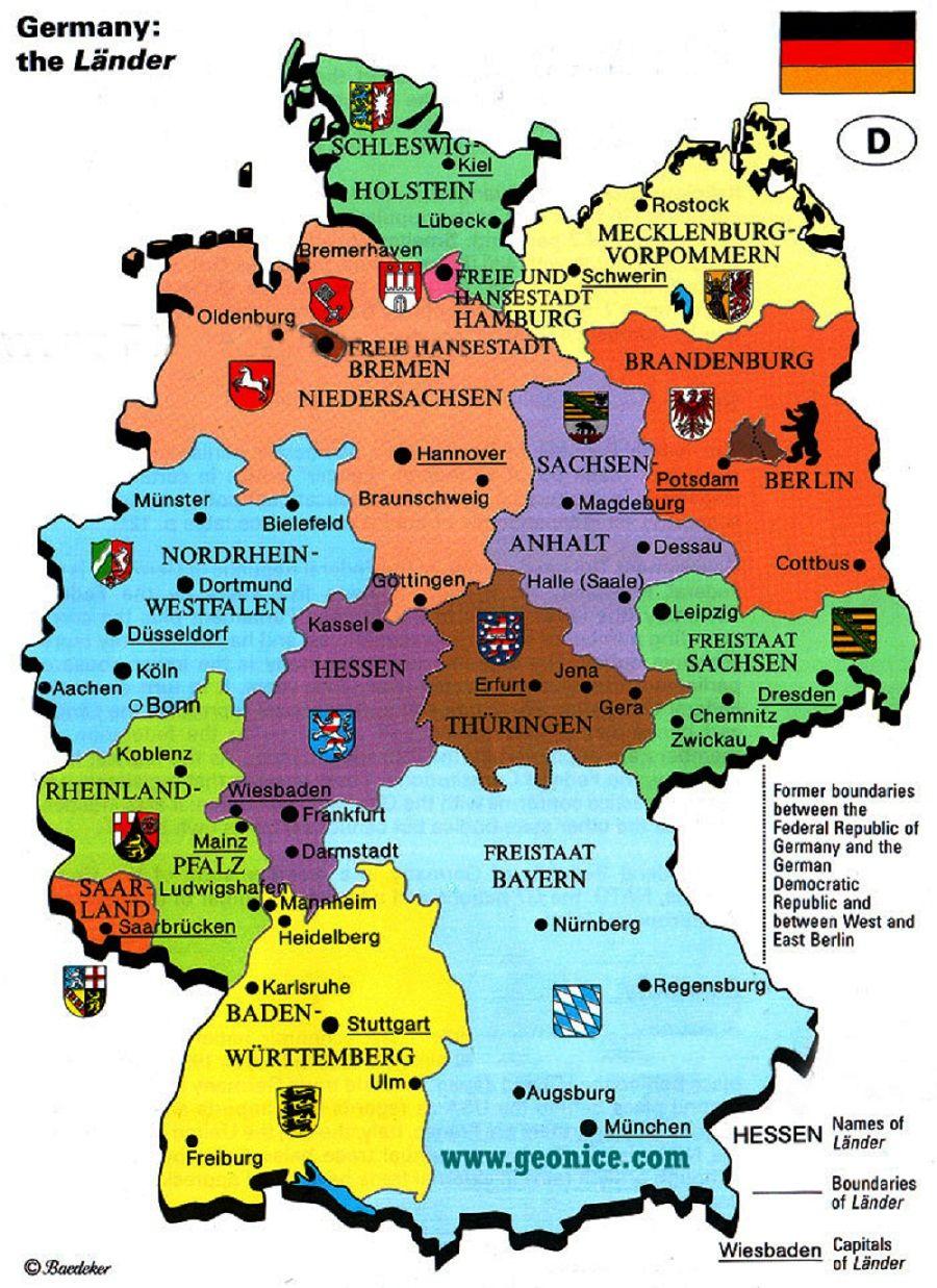 Germany Mapa Da Alemanha Alemanha Mapa