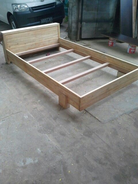 Single Bed From Reclaimed Teak Wood Base Panel From Plywood Bed