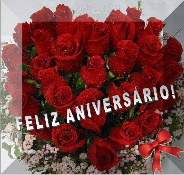 Feliz Aniversário Rosas Vermelhas Cartões De Feliz