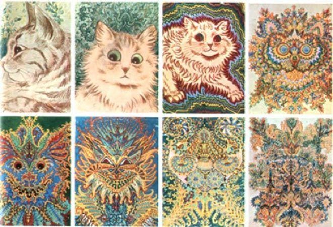 Louis Wain era um homem que sofria de esquizofrenia e que adorava desenhar gatos.