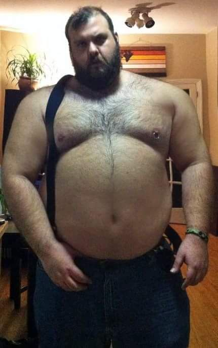 Big hairy husky chubby