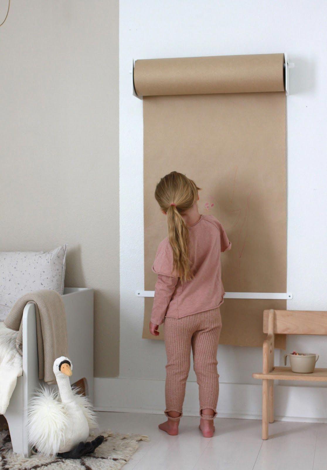 diy idee pour chambre enfant rouleau papier dessin jeu decoration ...