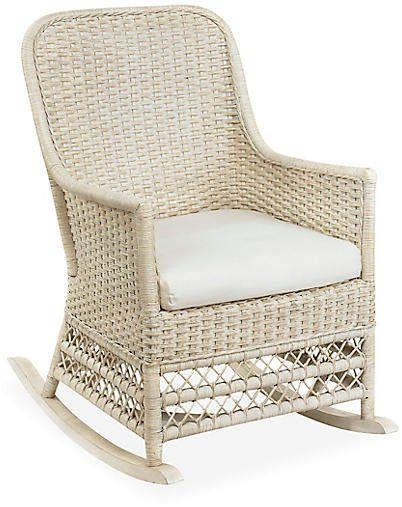 Catalina Wicker Rocking Chair Antiqued White Wicker Wicker