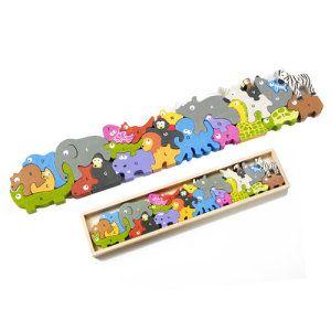 Animal Parade Wooden Alphabet A to Z Puzzle