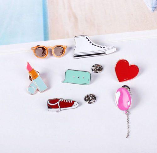 1fbbac1a691 1pc-Fashion-Enamel-Heart-Glasses-Piercing-Lapel-Badge-Brooch-Pins-Womens- Jewelry