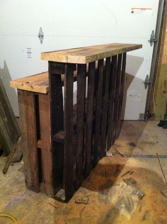 mini bar en bois de palettes voici 20 id es cr atives bar pinterest bar en bois de. Black Bedroom Furniture Sets. Home Design Ideas
