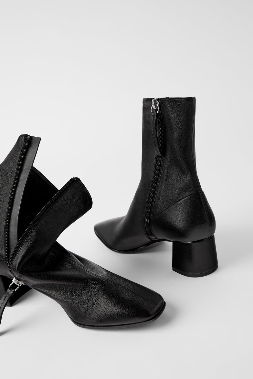 Skorzane Botki Na Obcasie Typu Soft Kobieta Shoes Bags Nowosci Zara Polska High Heel Boots Ankle Boots Ankle Boots