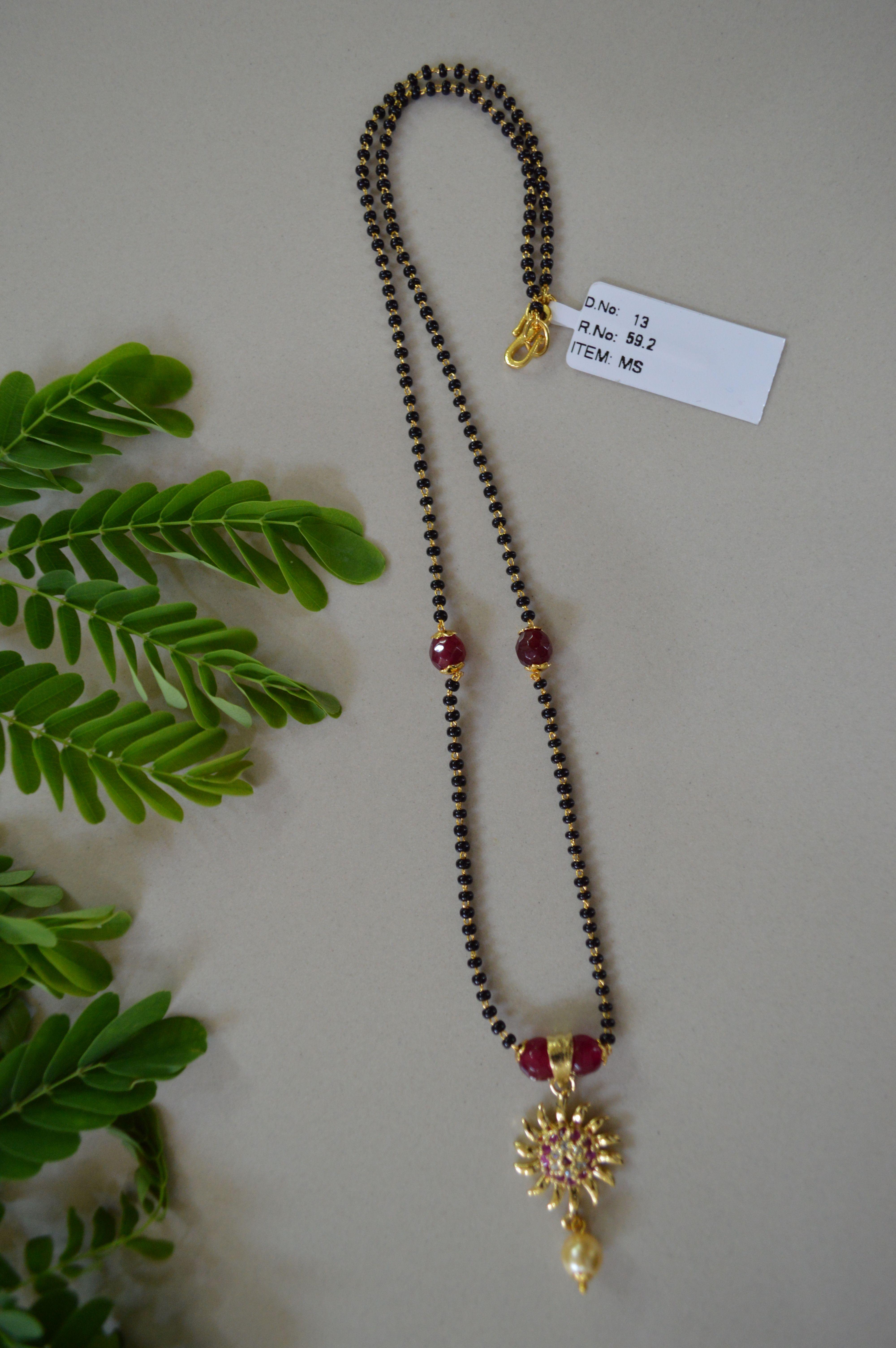 Black Beads 1 gm gold or imitation jewelry Chaitra Jewells