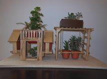 ブランコがある植物ゲストハウス