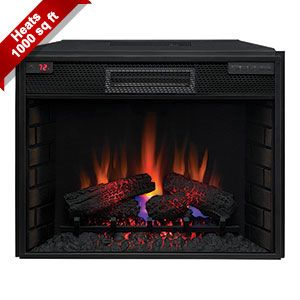 the classicflame 28 in infrared electric fireplace insert rh pinterest com