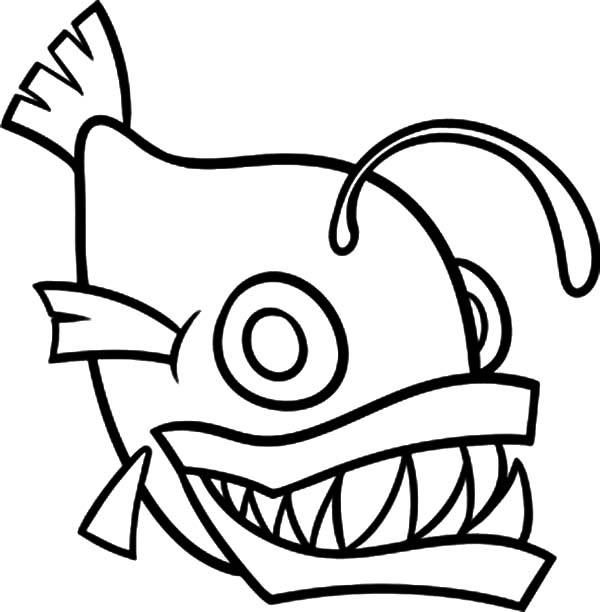 How To Draw Monster Fish Coloring Pages Color Luna Fish Outline Fish Coloring Page Sailor Moon Coloring Pages