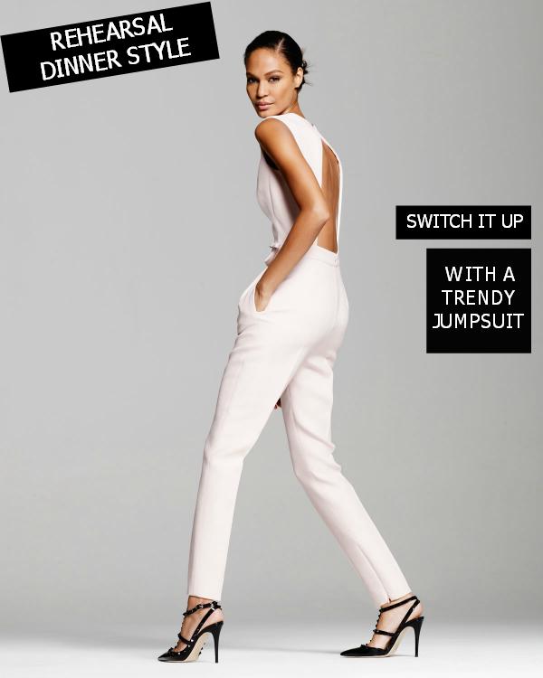 Rehearsal Dinner Style: Dressy Jumpsuit. Wedding ... - Rehearsal Dinner Style: Dressy Jumpsuit Bridal Fashion Details
