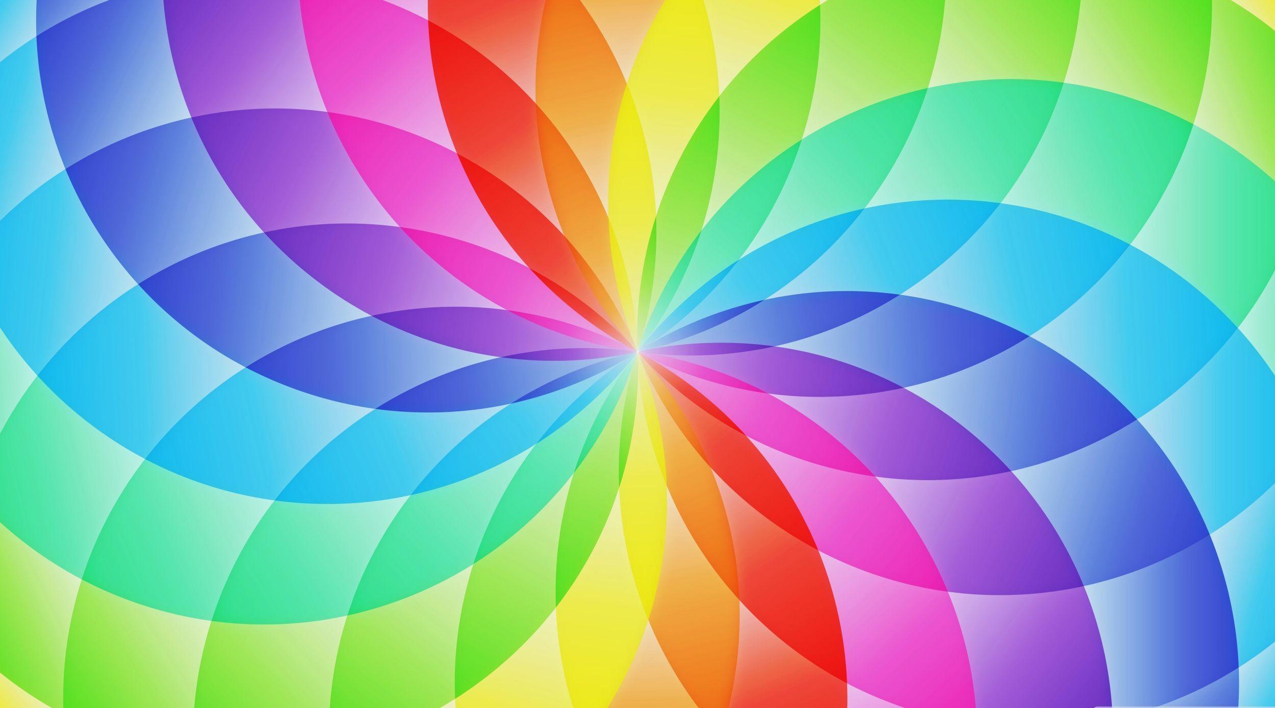 Rainbow Flowers Desktop Background Wallpapers High Resolution