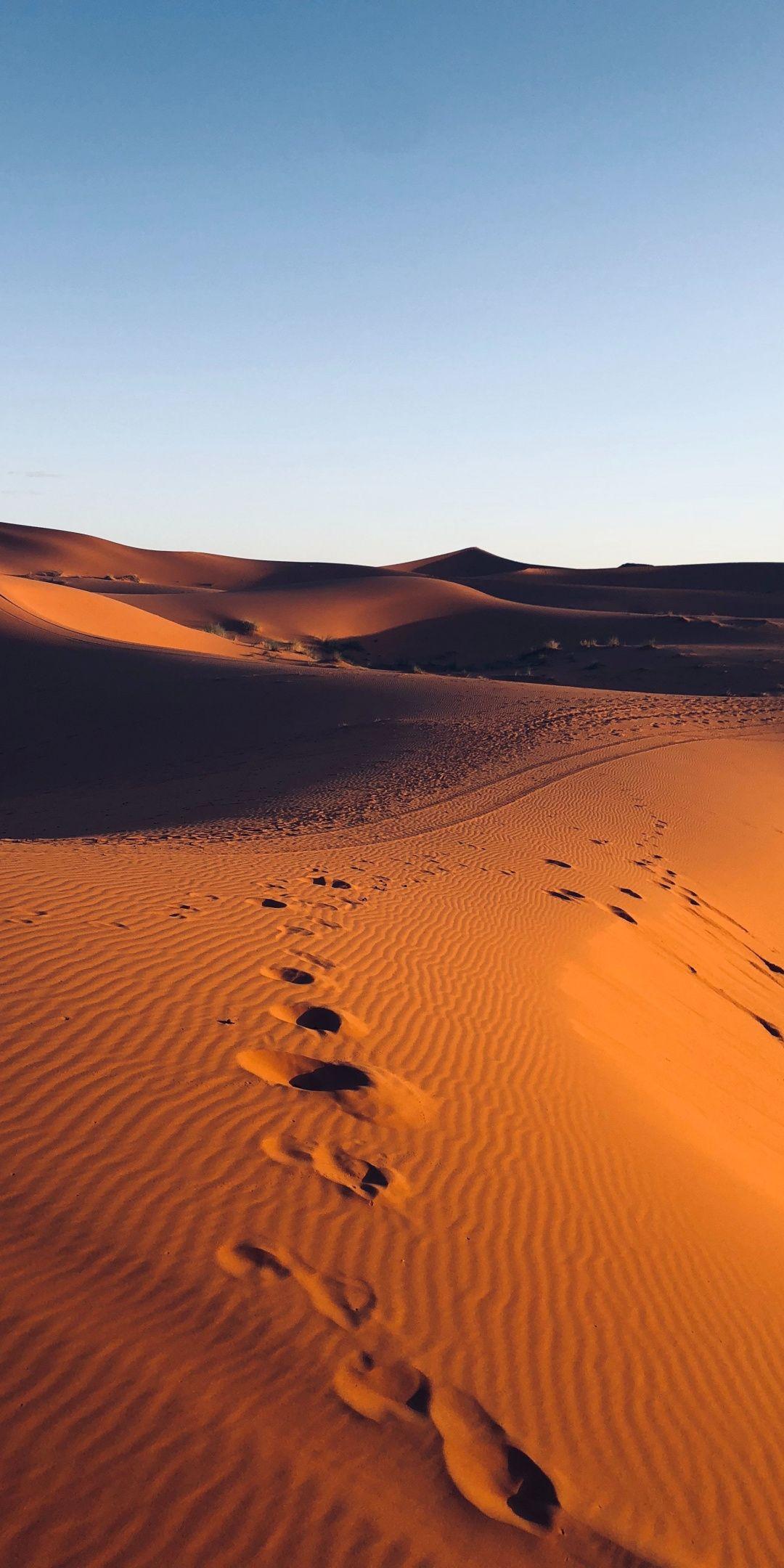 Morocco Marks Dunes Desert Sand 1080x2160 Wallpaper Desert Aesthetic Galaxy Phone Wallpaper Moonlight Photography
