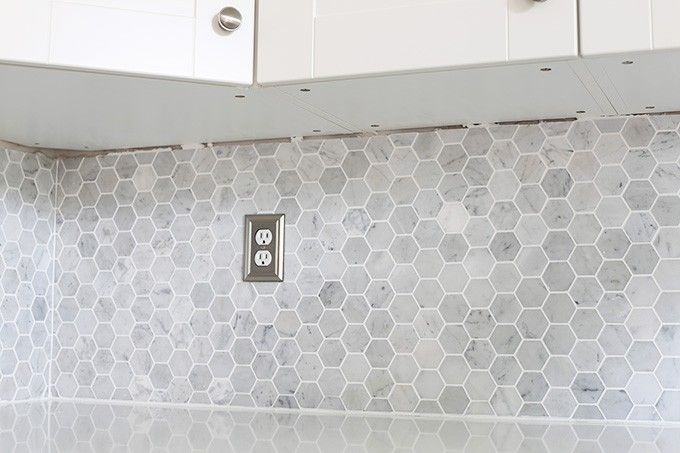 How To Install A Marble Hexagon Tile Backsplash Marbles