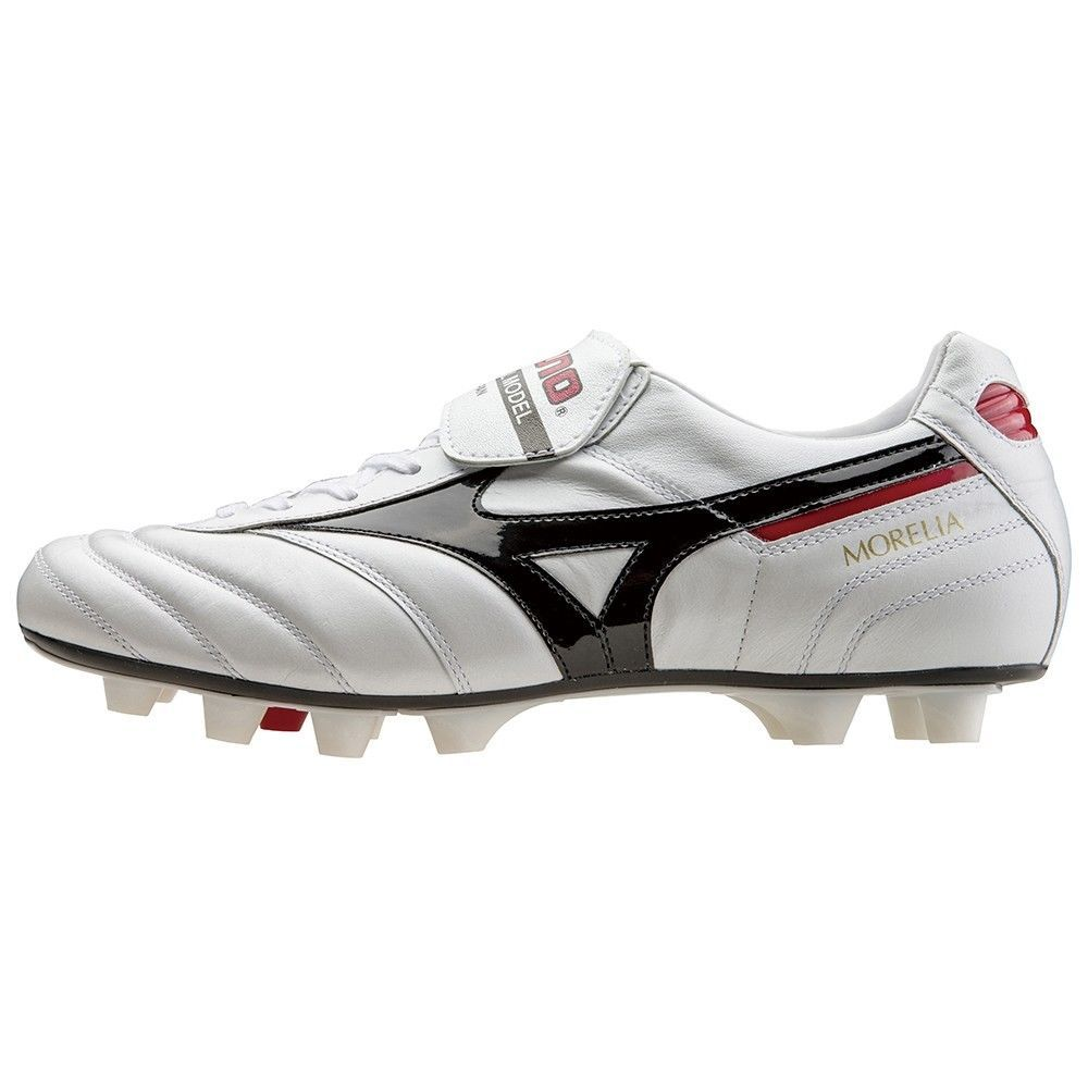 fa68b7c89 MIZUNO soccer shoes Spike MORELIA 2 P1GA1501 Super white pearl X black