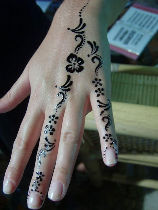 Simple Henna Tattoo On Hand: 30 Very Simple, Easy & Best Mehndi Patterns For Hands